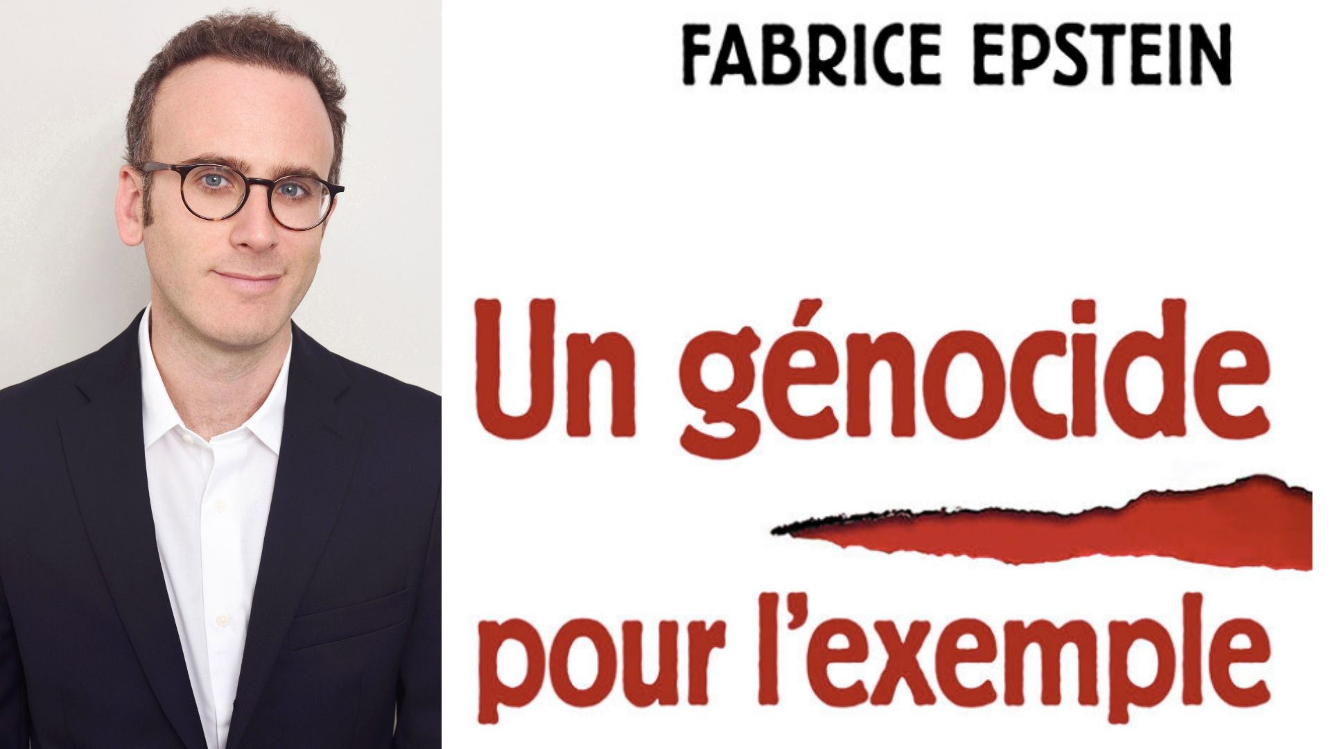"""""""Genocide as an example"""" – Interview with Fabrice Epstein, author of the book"""